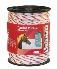 Seil TopLine Plus, 200m, 6mm, weiß/rot, 6 x 0,3mm TriCOND