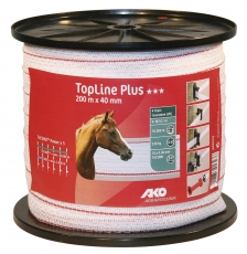 Band TopLine Plus, 200m, 40mm, weiß/rot, 10 x 0,3mm TriCOND